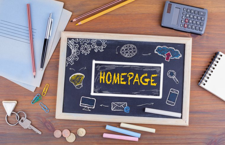 homepage designs on chalkboard